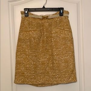 Knee length Anthropologie skirt with pockets